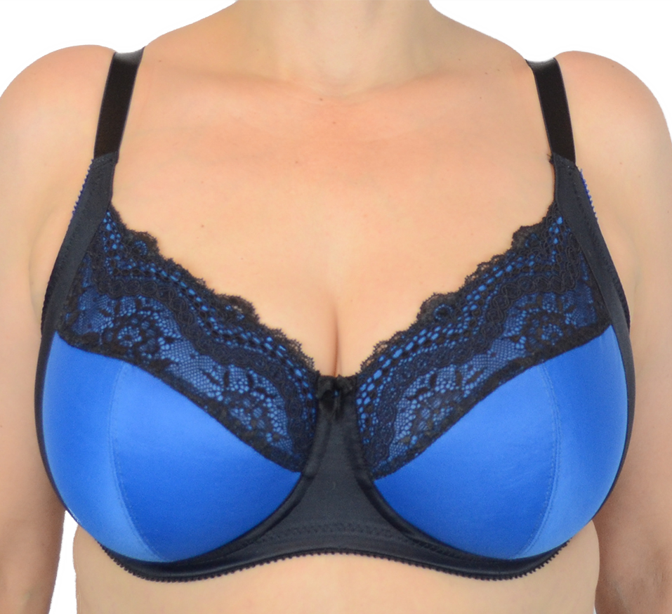 full cup bra in peacock blue