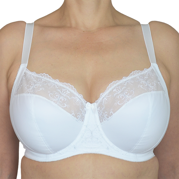 57da7e7feb528 Bianca all white bra for full cup sizes · back ...